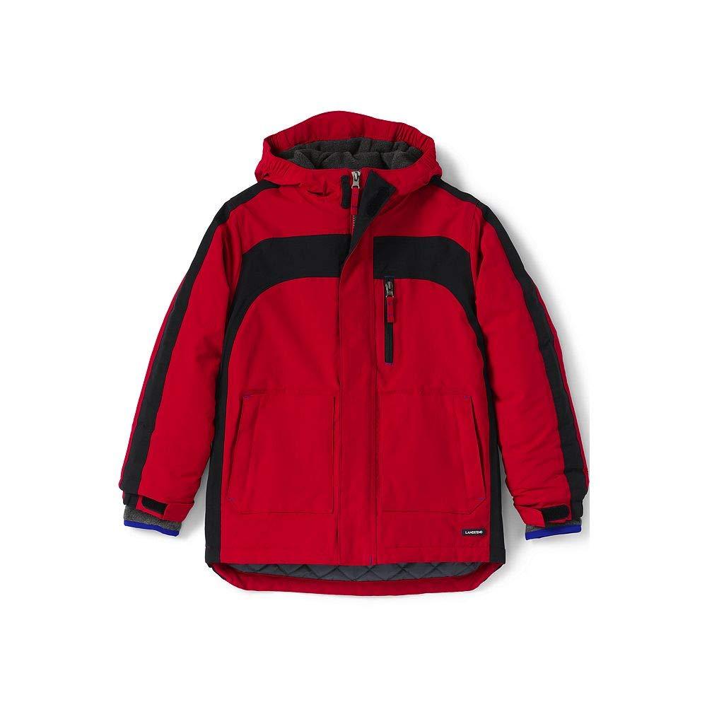 Lands' End Boys Squall Waterproof Winter Parka, M, Bright Cardinal