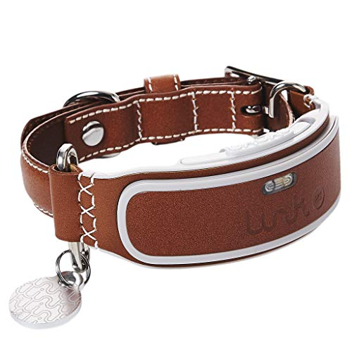 Link AKC Smart Dog Collar - GPS Location Tracker, Activity Monitor, and More, Leather Large (KITTN03) (Best Dog Whistle App For Iphone)