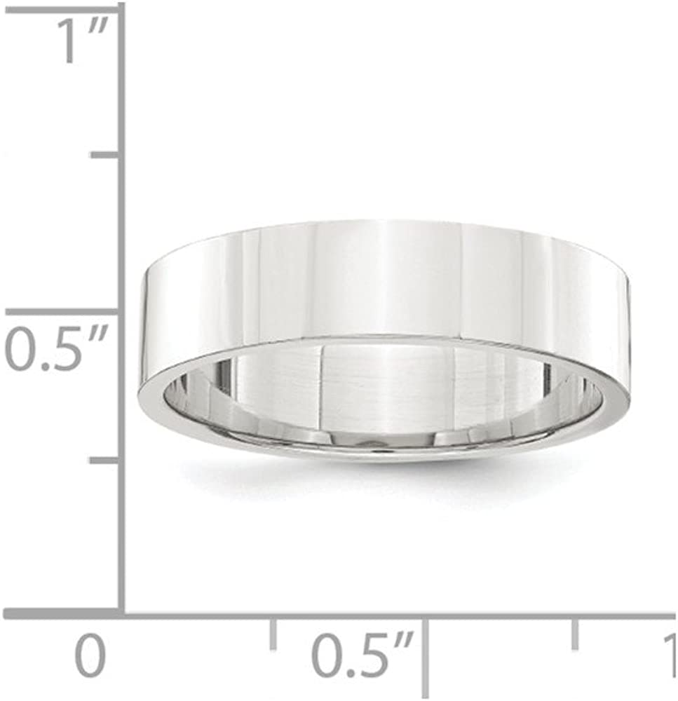 5mm Solid 925 Sterling Silver 5mm Flat Plain Classic Traditional Wedding Band Ring