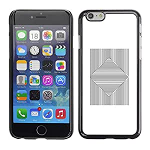 Shell-Star Arte & diseño plástico duro Fundas Cover Cubre Hard Case Cover para Apple iPhone 6(4.7 inches) ( Pattern Tiles Abstract Poster White )