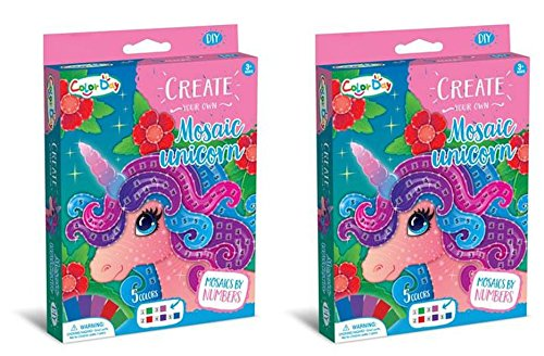 Mosaic Sticker Craft Activity Kit (Unicorn) - Set of 2]()