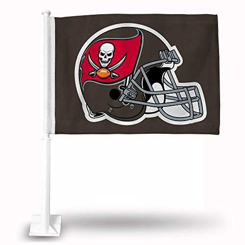 NFL Tampa Bay Buccaneers Car Flag, 19 x 2.5 x 1.75-Inch, White