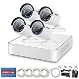 ANNKE 8ch HD 1080P NVR SPOE Security Camera System with (4) 1.3MP 960P Bullet CCTV IP Cameras, IP67 Weatherproof , Power over Ethernet, Easy Remote Access, NO HDD