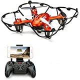 Ready o Fly Mini Drone with 2 MP camera FPV Max Control Distance 300 Meters Orange Color