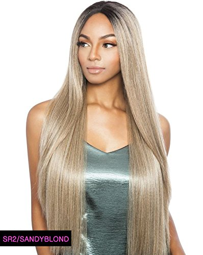 BS295 (1B Off Black) - Mane Concept ISIS Brown Sugar Human Hair Blend Swiss Lace Front Wig