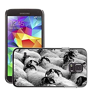 Etui Housse Coque de Protection Cover Rigide pour // M00114356 Agricultura Animal Campo Multitud // Samsung Galaxy S5 S V SV i9600 (Not Fits S5 ACTIVE)