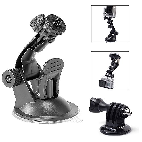 - TEKCAM Suction Cup Mount Compatible with Gopro Hero 7 6 APEMAN/ODRVM/DBPOWER/AKASO/Campark/WIMIUS/Vtin Action Sports Outdoor Camera (Camera Not Included)