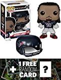 Jadeveon Clowney - Texans: Funko POP! x NFL Vinyl Figure + 1 FREE Official NFL Trading Card Bundle [45401]