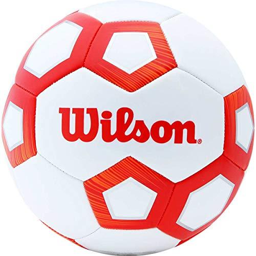 Bola De Futebol De Campo Pentagon N.5 Vermelha Wilson Vermelha