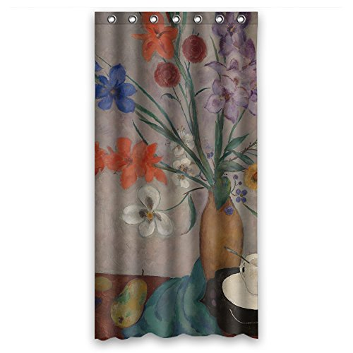 MeiGi Polyester Bath Curtains Of Art Painting Jan Sluijters - Still Life For Boys Kids Boys Boys Valentine. Eco Friendly Width X Height / 36 X 72 Inches / W H 90 By 180 Cm(fabric) Cornflower Color Tray