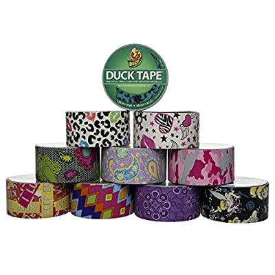 Duck Brand 10 Rolls Assorted Pattern Duct Tape Arts & Crafts Projects DIY 100yds