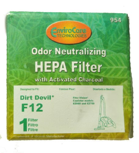 - Dirt Devil 82660 Vacuum Filter Type F12 82-2310-01