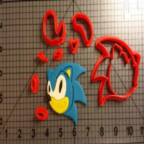 1 Set Cartoon TV Animal Sonic Hedgehog Cookie Cutters Custom Made 3D Printed Fondant Cupcake Top Cookie Cutter Tools for Cake Moulds (Custom Cookies Printed)