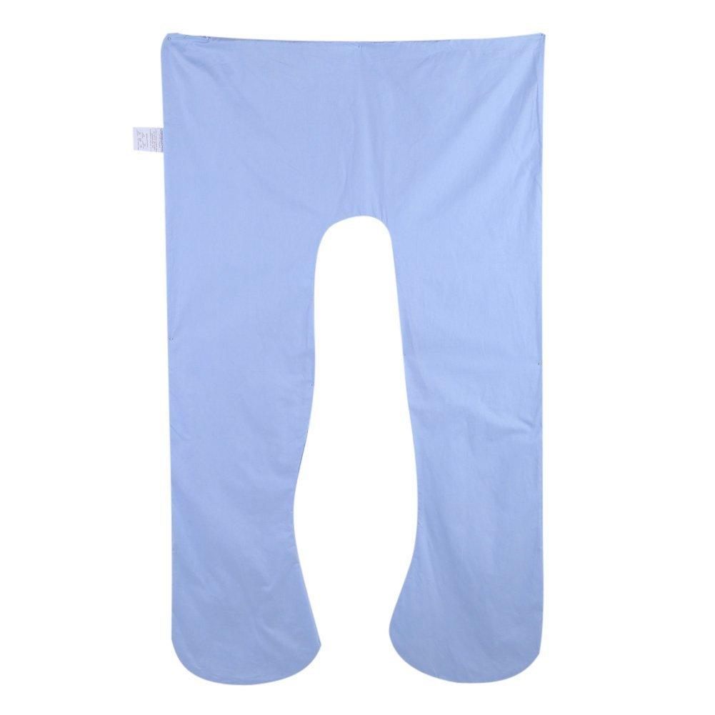 Yosoo Forma de U Cuerpo Funda de Almohada Multifuncional Embarazo Defensor Cubierta Lavable U algod/ón Funda de coj/ín