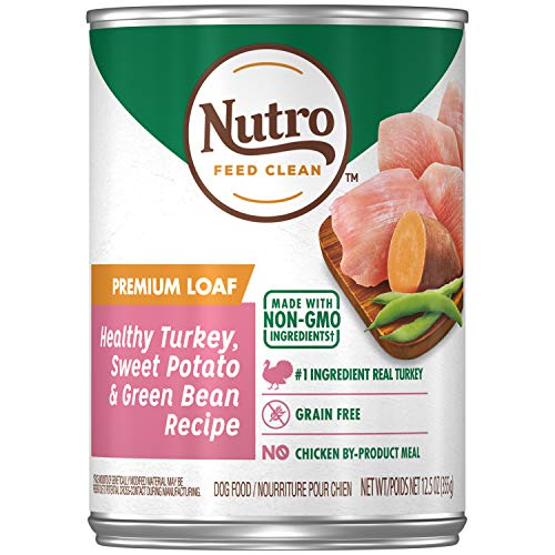 NUTRO PREMIUM LOAF Adult Canned Wet Dog Food Healthy Turkey, Sweet Potato & Green Bean Recipe, (12) 12.5 oz. Cans