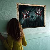 Tools & Hardware : Highpot 3D Halloween Wall Sticker Ghost Breaking Wall Halloween Decoration Mural Decor Decal Removable (B)