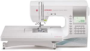 SINGER | Quantum Stylist 9960 Computerized Portable Sewing Machine with 600-Stitches Electronic Auto Pilot Mode, Extension Table and Bonus Accessories, Perfect for Customizing Projects, 28.22 Pounds