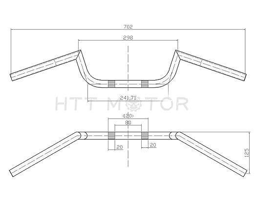 Amazon Com Htt 22mm 78 Black Handlebar Bars With Center Knurling