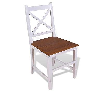 binzhoueushopping Salón Silla Silla de Oficina 6 sillas de Comedor ...