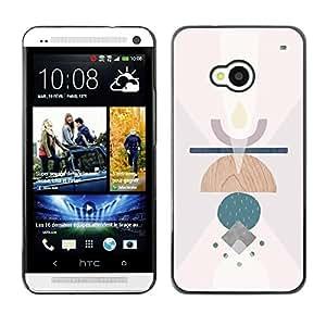 Be Good Phone Accessory // Dura Cáscara cubierta Protectora Caso Carcasa Funda de Protección para HTC One M7 // Symbols Candle Abstract Meaning Art Clean