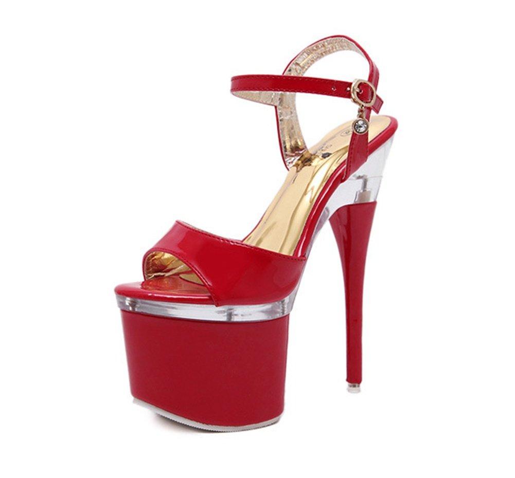 38-rouge 38-rouge AISHUAIGE Chaussures à Talons Hauts Chaussures de Femmes Sandales à Talons Hauts Sandales Femmes Chaussures de Travail Pole Dance Chaussures de Danse 34-42  le plus préférentiel