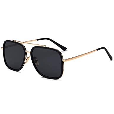 Amazon.com  Vintage Polarized Aviator Sunglasses Square for Men ... 5680f7f3e3
