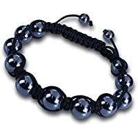 Shamballa Bracelet Adjustable Length with Hemitite Beads