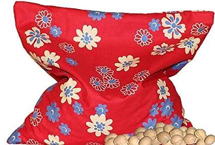 Bolsas de huesos de Cereza Azul / beige Pequeños florcitas ...