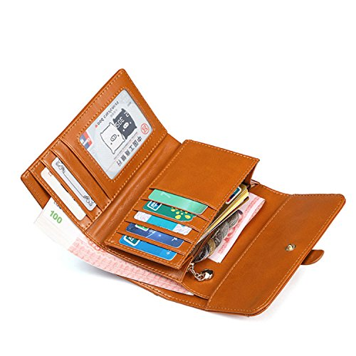 of wallet folding purse Retro Brown Paragraph wallet 2018 function multi Short Classic short Version Korean UnxvYRT5pW