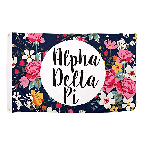 Alpha Delta Pi Floral Pattern Sorority Flag Greek Use as a Banner Large 3 x 5 Feet Sign Decor ADPi Review