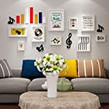 Home@Wall photo frame Musical Elements Photo Wall Combination Sofa TV Background Wall Large Wall Frame Wall Children's Room Decorative Frame (Color : A, Size : 18484CM)