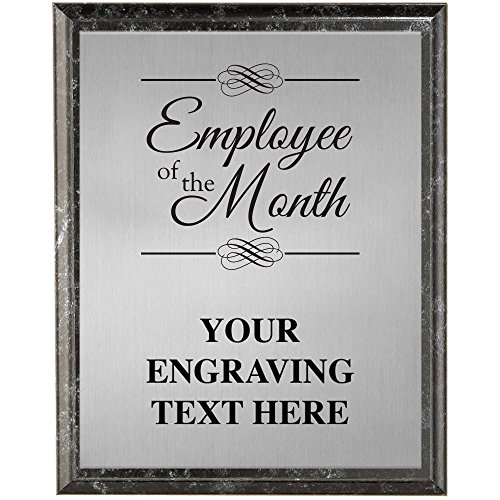 Corporate Plaques - 5 x 7 Employee of The Month Etched Recognition Trophy Plaque Award Prime