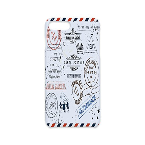 Phone Case Compatible with iPhone7 Plus iPhone8 Plus 3D print Customized,Vintage,Retro Post Stamps Postage Mail Paris Antique Artistic Design Vocation Traveling Decorative,Multicolor,Antiskid proof sh