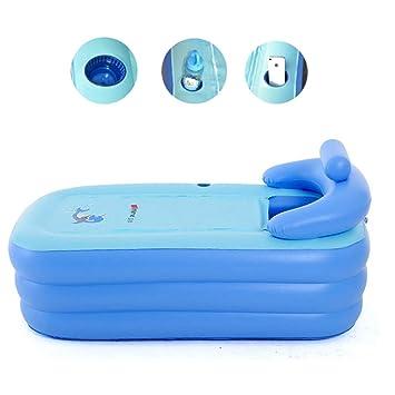 Bañera hinchable, plegable, de PVC, para adultos, portátil, para casa y viajes