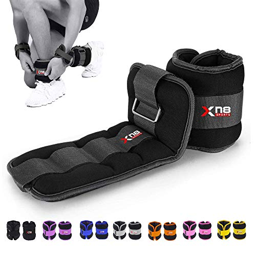 Xn8 Neoprene Ankle Weights Strap 0.5kg-3kg Pair Legs Weight For Running-Jogging-Walking- Aerobics-Exercise-Gymnastics…