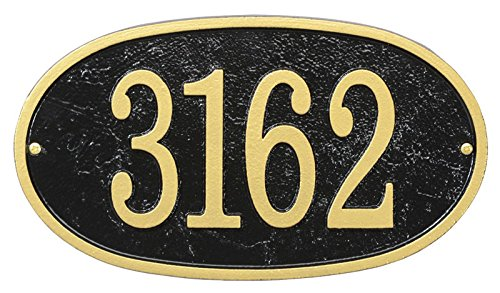 (Comfort House Metal Address Plaque - House Number Sign - Choose Your Shape and Color)