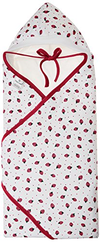 Tiny Care Baby Hooded Wrapper Cherry Printed (Red)