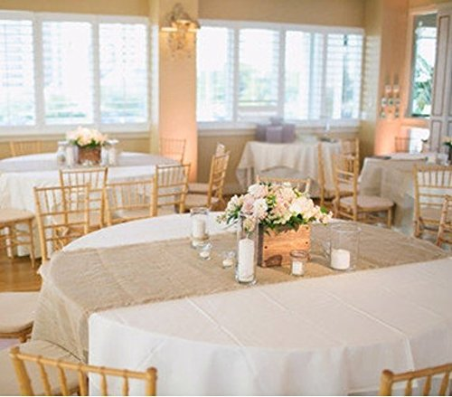 Burlap Table Runner: 102x15 for Rustic Events