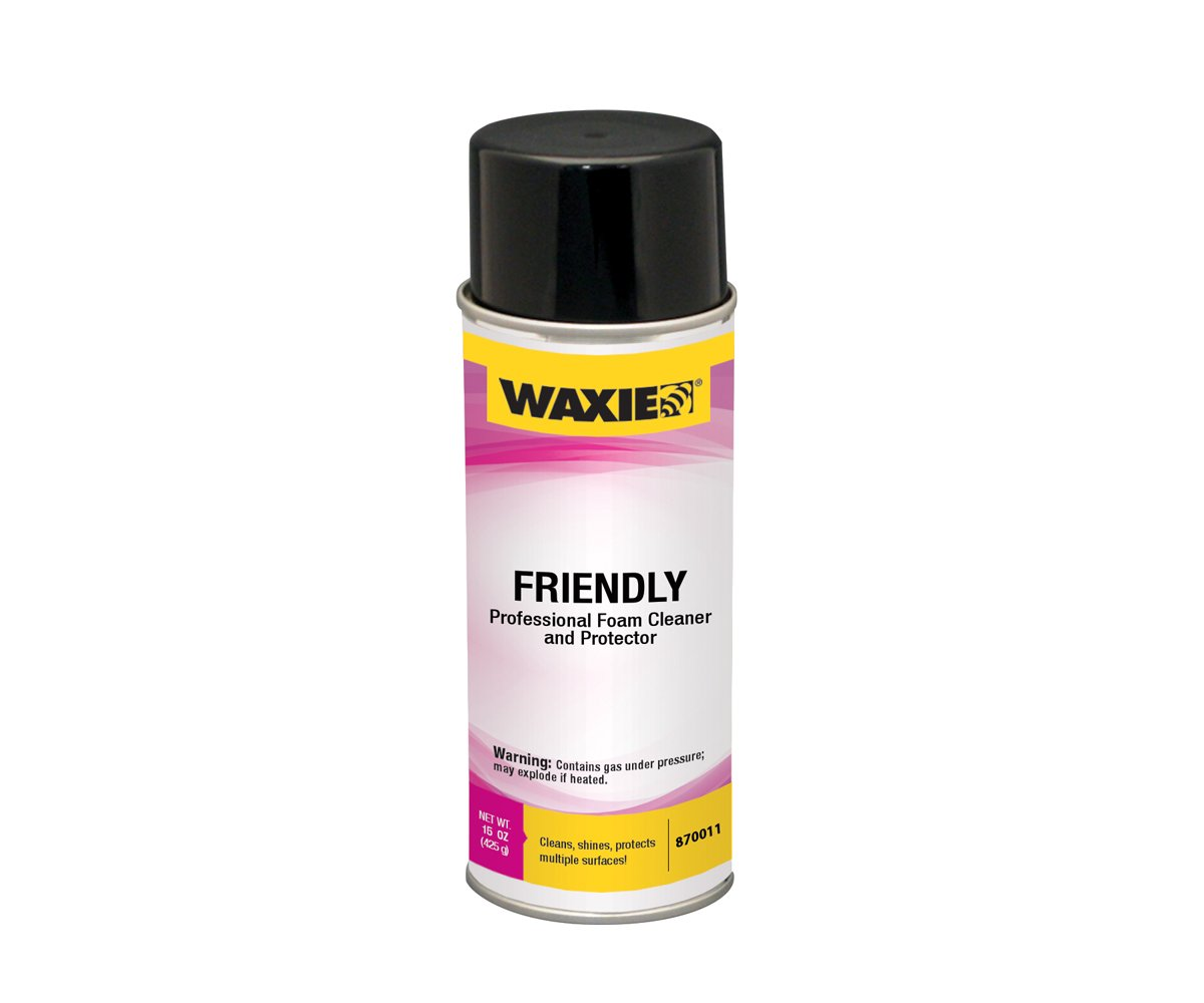 WAXIE Friendly Professional Foam Cleaner and Protector, 15 oz Aerosol Can (Case of 12)