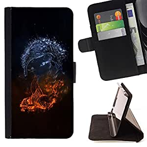 DEVIL CASE - FOR Samsung Galaxy S3 Mini I8190Samsung Galaxy S3 Mini I8190 - Abstract Monsters - Style PU Leather Case Wallet Flip Stand Flap Closure Cover