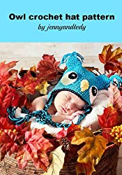 crochet pattern owl hat (English Edition)