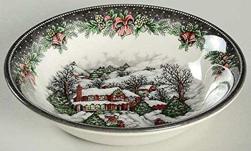 Royal Stafford Christmas Village Soup/Cereal bowls - Set of 4