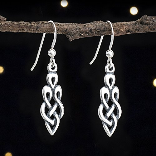 Sterling Silver Celtic Goddess Knot Earrings - Small - Solid .925 Sterling Silver, Ready to Ship