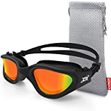 Zionor Swimming Goggles, G1 Polarized Swim Goggles with Mirror/Smoke...