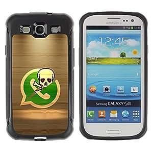 Suave TPU GEL Carcasa Funda Silicona Blando Estuche Caso de protección (para) Samsung Galaxy S3 III I9300 / CECELL Phone case / / Pirate Skeleton Phone /