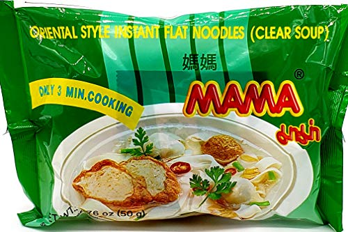 MAMA Ramen Style Instant Flat Noodles Clear Soup 30 pack