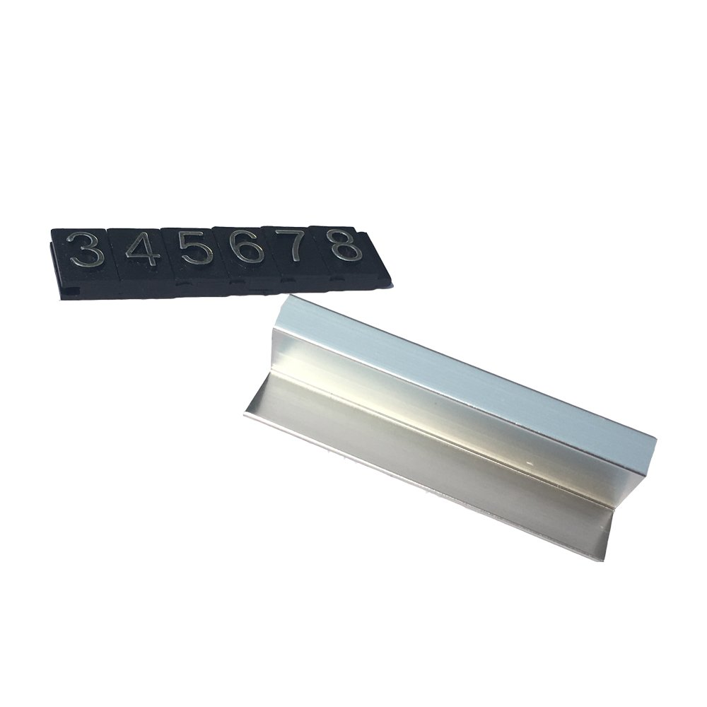 Do4U Counter Stand Label Tag Metal Arabic Price Tag Adjustable Sale Price Display Stand For Retail Shop 12 Sets (Silver) by Do4U (Image #4)