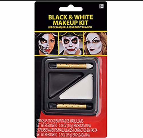 Black and White Makeup Kit (White And Black Makeup Halloween)