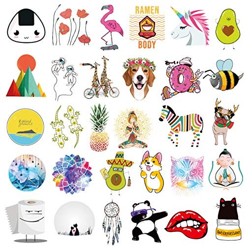 Stickers for Water Bottles 65-Pack Qucuek Cute,Aesthetic,Trendy Stickers for Girls Teens, Perfect for Waterbottle,Laptop,Phone,Travel Extra Durable 100% Vinyl