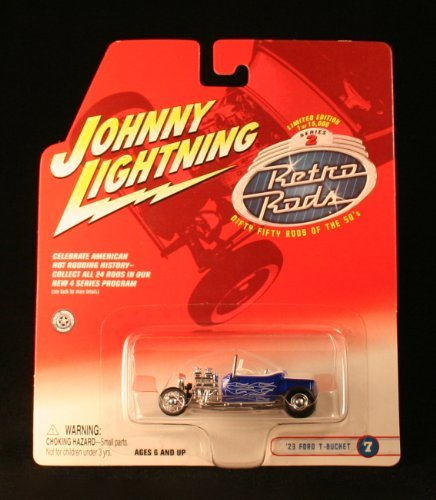 '23 FORD T-BUCKET #7 * BLUE * 2002 Johnny Lightning RETRO RODS Series 2 Limited Edition Die Cast Vehicle * 1 of only 15,000 ()